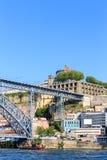 Porto mit der Dom Luiz-Brücke Lizenzfreies Stockbild