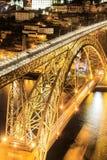Porto mit der Dom Luiz-Brücke Lizenzfreie Stockfotografie