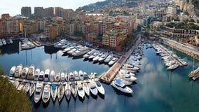 Porto Monaco de Fontvieille Imagem de Stock Royalty Free