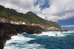 Porto moniz. Overview of porto moniz on madeira island, portugal Royalty Free Stock Photos