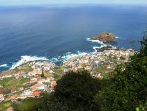 Porto Moniz da ilha de Madeira Fotografia de Stock