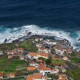 PORTO MONIZ, MADEIRA, PORTUGAL - 29 de fevereiro de 2018: Ilha de Madeira, Portugal fotografia de stock royalty free