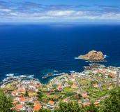Porto Moniz, madery wyspa, Portugalia fotografia royalty free