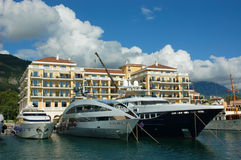 Porto Montenegro and boutique hotel Regent Porto Montenegro Royalty Free Stock Photo