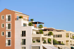 Porto Montenegro buildings Stock Photography