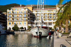 Porto Montenegro in Kotor Bay. Stock Photo