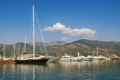 Porto Montenegro - luxury yacht marina in the Adriatic. Montenegro Royalty Free Stock Images