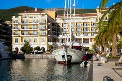 Porto Montenegro na baía de Kotor Foto de Stock