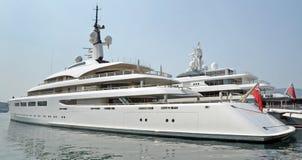 Porto Montenegro, Tivat. Yacht on Porto Montenegro, Tivat royalty free stock images