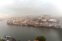 Porto in morning fog Royalty Free Stock Photos