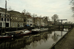 Porto na cidade Países Baixos foto de stock royalty free