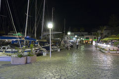 Porto na noite Fotografia de Stock