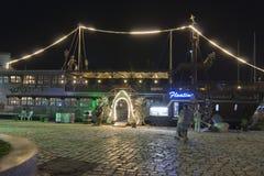 Porto na noite Imagem de Stock