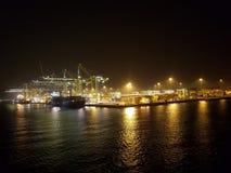 Porto na noite Foto de Stock Royalty Free