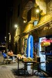 Porto na noite, Israel de Jaffa Imagens de Stock Royalty Free