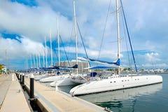 Porto na praia de Varadero em Cuba fotos de stock royalty free