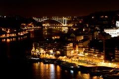 Porto nachts Lizenzfreie Stockbilder