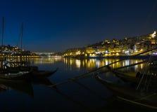 Porto-Nachtszene Stockfotografie