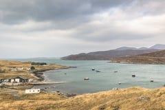 Porto naturale a Aird Asaig sull'isola di Harris in Scozia Immagini Stock Libere da Diritti
