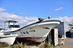 Porto naturale dell'isola del Giappone Kagoshima Sakurajima fotografia stock