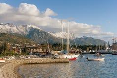 Porto nella città di Teodo montenegro Fotografia Stock