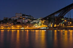 Porto by night Royalty Free Stock Photography