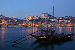 Porto by Night Stock Images