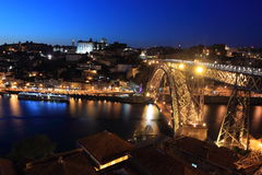 Porto at night Stock Photography