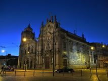 Porto at night, Portugal. Royalty Free Stock Photo