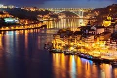 Porto in the night Stock Photo