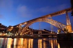 Porto at night, Portugal Royalty Free Stock Photos