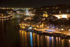 Porto at Night, Portugal Royalty Free Stock Images