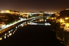 Porto by Night Portugal Royalty Free Stock Photo