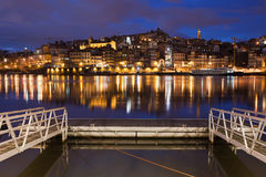 Porto by Night in Portugal Royalty Free Stock Photography