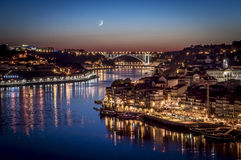 Porto by night Stock Photography
