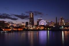 Porto Nightview di Yokohama Fotografia Stock