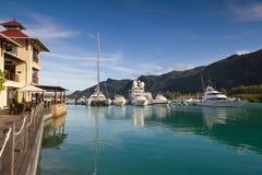 Porto no console de Eden, Seychelles Fotos de Stock