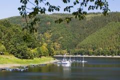Porto no Eifel, Alemanha de Rursee do lago Imagem de Stock