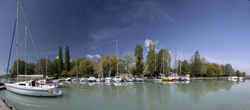 Porto no lago Balaton Fotos de Stock Royalty Free
