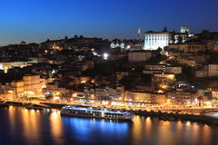 Porto no por do sol Foto de Stock Royalty Free