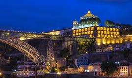 Porto nocą Obrazy Royalty Free