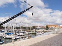 Porto nos bancos do rio Tagus em Lisboa Portugal Imagem de Stock Royalty Free