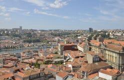 Porto och Gaia Arkivfoto