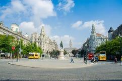 Porto - OCTOBER 8, 2012: Avenida dos Aliados Royalty Free Stock Photo
