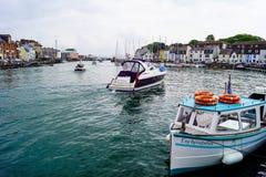 Porto ocupado de Weymouth imagem de stock