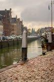 Porto olandese dopo pioggia Immagini Stock Libere da Diritti