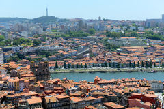 Porto Old City aerial view, Portugal Royalty Free Stock Photo