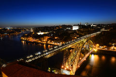 Porto Old City night view, Porto, Portugal Royalty Free Stock Photo