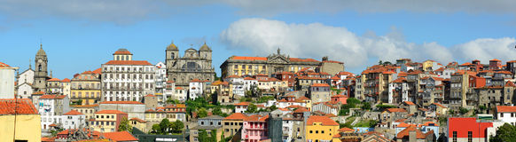 Porto Old City Panorama, Porto, Portugal Royalty Free Stock Images