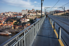 Porto Old City View From Dom Luis I Bridge Royalty Free Stock Photo